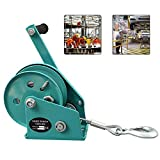 Hand Winch with Bearing, Hand Winch with 4mm Cable and Hook, Portable Boat