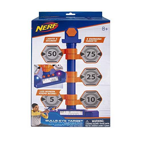 Nerf Elite NER0205 Bulls-Eye Digital Target, Elektronische Zielscheibe für Nerf Pistolen, Gewehre und Waffen, Turm mit 6 schwingenden Zielen und Zähler, mit Licht & Sound, für Kinder ab 8 Jahren