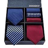 結婚式 ネクタイ 3本セット[ HISDERN(ヒスデン) ] フォーマル ネクタイ チーフ メンズ おしゃれ ネクタイ セットビジネス 青 礼服 ネクタイ ブランド プレゼント T3C006