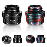 810 Drip Tip Replacement Resin Drip Tip Connector Honeycomb Accessory Drip Tip Cover Connector Drip Screws Tip Adaptor for Coffee Machine Favors Ice Maker (2, Black, Mixed Color)