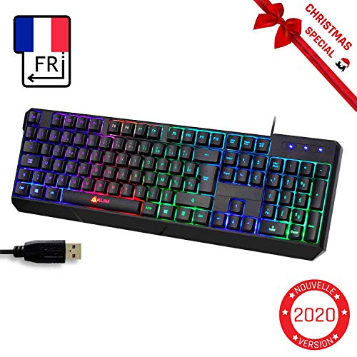 KLIM Chroma Clavier Gamer AZERTY FR + Durable, Ergonomique,...
