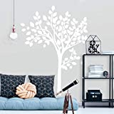 white tree decals - RoomMates Simple White Tree Peel And Stick Giant Wall Decals