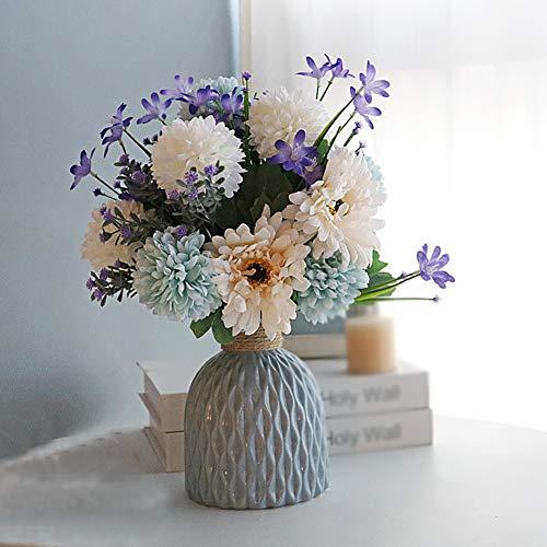 Kunstblumen Decoraci Flores Artificiales Seda, Flores de Hortensia Artificial Arreglo de Ramo Simulación para Casa,Cocina,Jardín Hogar Oficina Decoración