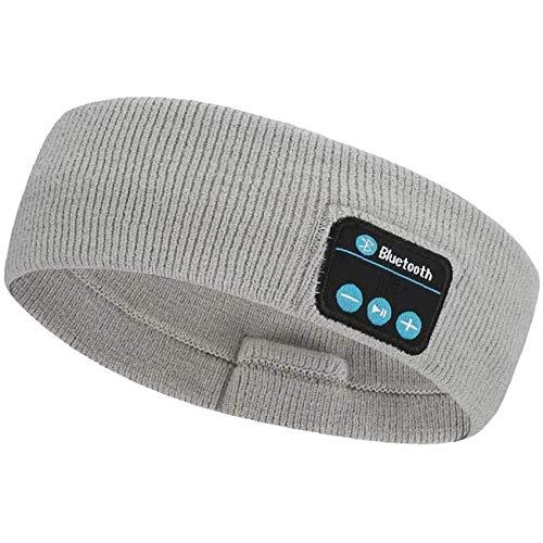 Rpanle Auriculares para Dormir con Diadema Bluetooth, Bluetooth 5.0 Deportes Diadema, con Ultrafinos HD Estéreo Altavoces Deportes, Dormir de Lado y Viajes Aéreos (Gris Claro)