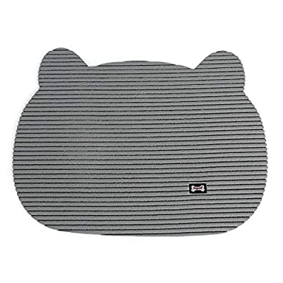DOUNAYEE Cat Litter Trapping Mat Waterproof,Kitty Mat for Litter Box Large Size,Soft On Paws,Scatter Control,Easy to Clean