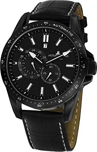Jacques Lemans Herren Chronograph Quarz Uhr mit Leder Armband 1-1775D