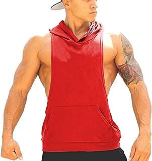 Panegy Bodybuilding Stringer Gym Hooded Tank Top Workout Sleeveless Shirt