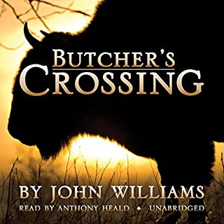 Butcher's Crossing audiobook cover art