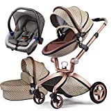 Cochecito de bebé Hot Mom 3 en 1 con Sillas de paseo, 2020 New Lifestyle F22 con 3 piezas - edición especial 3-1