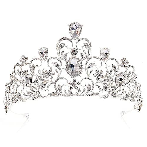 Tiaras de boda, de cristal, para novia, corona de princesa, diadema con...