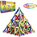 Veatree 150-Pieces Magnetic Building Sticks Blocks Toys