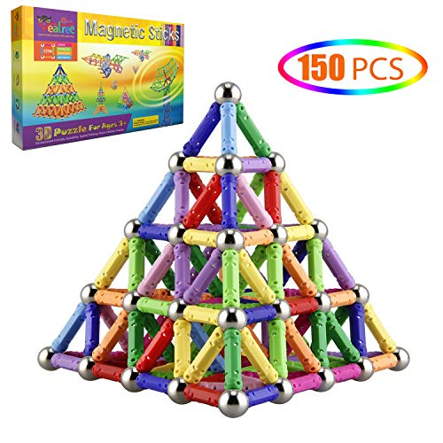 Veatree 150 Pcs Magnetic Building Sticks Blocks Toys, Magnet Educational Toys...