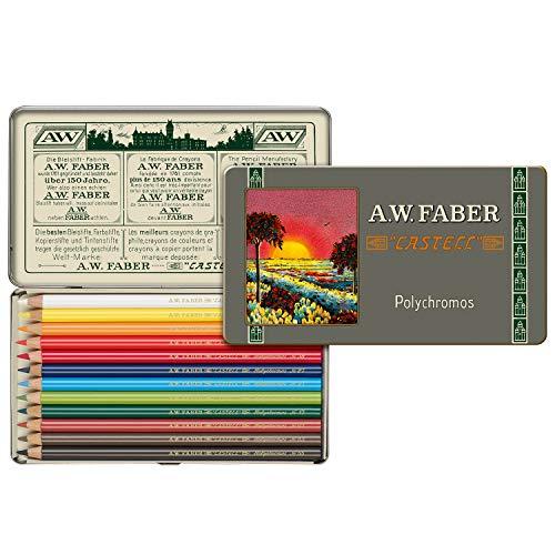 Faber-Castell 211001 - Polychromos Farbstift, Sonderedition, 12er Metalletui