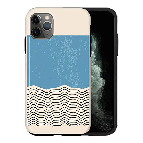 Desconocido iPhone 12 Mini Case, Modern Blue Color Swatch ABC047_2 Case For iPhone 12 Mini Protective Phone Cover, Abstract Funny Gorgeous [Double-Layer, Hard PC + Silicone, Drop Tested]