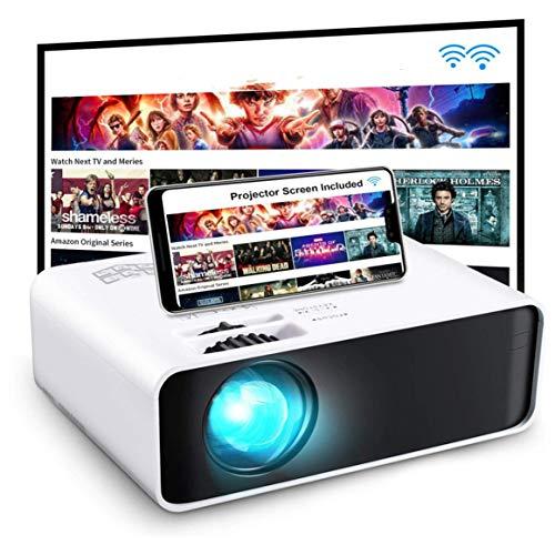 Proyector WiFi, Proyector portátil Proyector de Cine en casa con Pantalla de 200 ', Compatible con TV Stick / PS4 / HDMI / VGA / Smartphone (versión de duplicación de Pantalla)