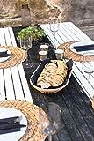 100% Mosel Vlies Tischläufer, in Schwarz (30 cm x 25 m), dekoratives Tischband aus Stoff, edle Tischdeko für Geburtstage & Hochzeiten, bunte Dekoration zu besonderen Anlässen - 7