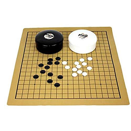 Go Game International Chess Juego de ajedrez Go Bang Juego de tablero de láminas de cuero de gamuza Juego de ajedrez Go Juego con piedras de plástico Desarrollo de entretenimiento intelectua