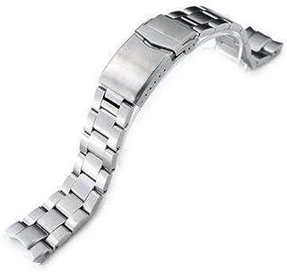 Cinturino orologio con cinturino 20mm Super 3D Oyster cinturino per orologio per Seiko Alpinist SARB017, spazzolato, chius...