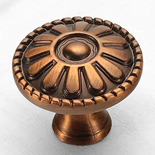 YZZR Perillas de Gabinete de Vintage Perillas de Cajón Tiradores de Muebles Perilla de la Puerta con Tornillo Perillas Manijas para Armario Cajón Aparador Cocina 5 Piezas