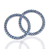 Nissan 1000 Series Accessory Drive Belts - LivTee 2 PCS Crystal Rhinestone Car Engine Start Stop Decoration Ring, Bling car Accessories, Push to Start Button, Key Ignition & Knob Bling Ring