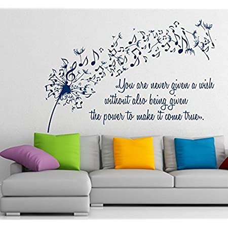 Budding Flower Floral Vinyl Wall sticker decal quotes