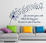 Floral Wall Decals Vinyl Decal Dandelion Sticker Flower Music Quote Musical Notes Home Art Decor Kids Nursery Removable Stylish Sticker Mural Unique Design for Any Room m414