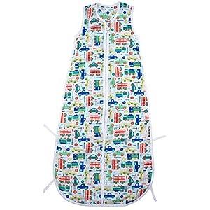 Slumbersac Summer Baby Sleeping Bag 0.5 Tog – Bamboo Muslin Cars – 0-6 months/70cm