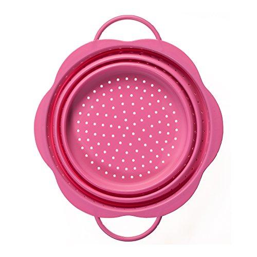 Kochblume Faltsieb groß (pink)