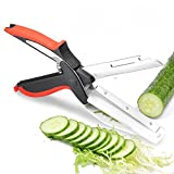 Clever Food Choppers Smart meat Cutter scissors Kitchen Shears,quick vegetable cutter with cutting board knife kitchen must haves chopping scissors for kitchen