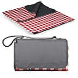 ONIVA - a Picnic Time Brand Outdoor Picnic Blanket Tote XL, Red/White Check