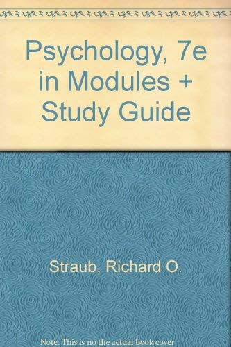 Psychology, Seventh Edition in Modules (spiral) & Study Guide