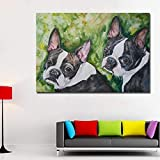 SADHAF Cute two puppies wall art print animal pictures living room home Art Design A5 60x90cm