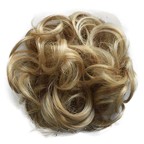 PRETTYSHOP XL Haarteil Haargummi Hochsteckfrisuren Brautfrisuren Voluminös Gelockt Unordentlich Dutt Blond Mix G20E