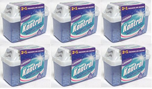 6 x Kontrol Mini Moisture Trap - Freshens Air and Absorbs Damp lavender Scent