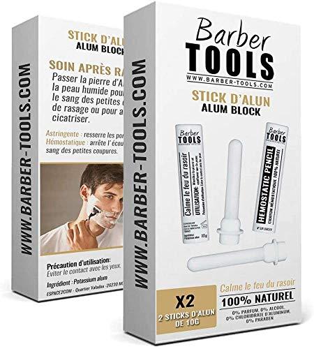 Boite de 2 Sticks hémostatique: stoppe les petits saignements ✮ BARBER TOOLS ✮