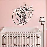 wandaufkleber Personalisierte Name Minnie Mouse für Kinderzimmer Dekor Mädchen Zimmer Kinderzimmer Schlafzimmer Dekor