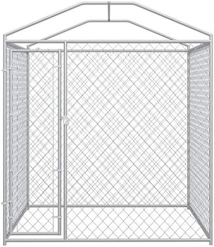 vidaXL Chenil d'Extérieur avec Toit pour Chiens Enclos Parc Niche Cage Chiot