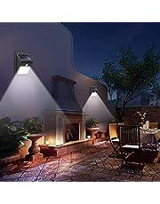 مستشعر حركة ومصباح اضاءة يعمل بالطاقة الشمسية مضاد للماء مع 8 اضواء ليد، مجس بيروكهربي للاستخدام في اضاءة الحدائق والممرات اثناء الليل - اسود