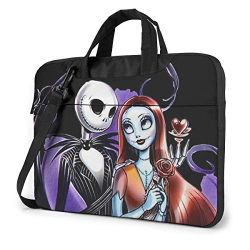 Lsjuee 15.6 Inch Laptop Bag Skeleton Love Laptop Briefcase Shoulder Messenger Bag Case Sleeve