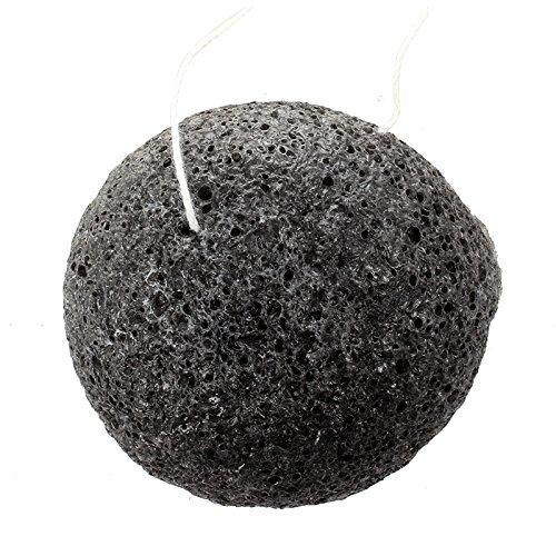 REFURBISHHOUSE Naturel Konjac Eponge de Visage Nettoyage de Visage - Noir