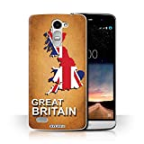 Hülle Für LG Ray/X190 Flagge Land Großbritannien Design Transparent Ultra Dünn Klar Hart Schutz Handyhülle Hülle