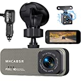 Dual Dash Cam Front and Rear, 1080P FHD Car Driving Recorder with 3.6' LCD Screen, 2K Dashboard Camera, 170° Wide Angle Lens , Loop Recording, G-Sensor, Parking Monitor, Motion Detection, Night Vision