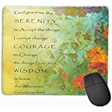 Cute Gaming Mouse Pad, Desk Mousepad, Mouse Mat Doce Serenity Prayer Lilacs and Poppies Step God Peace