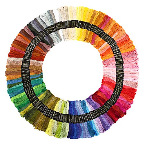 YCDYX Embroidery Floss - Rainbow Color Friendship Bracelets Floss, Craft Floss, Cross Stitch Threads, 8m, 6 Strand Floss for Cross Stitch kit and DIY Craft (150 Colors)