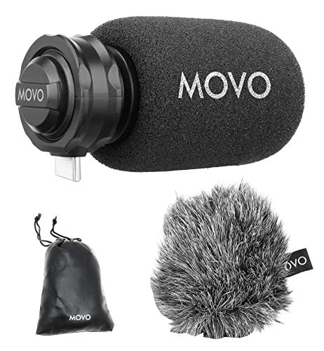 Movo TPM100 USB-C Microphone - Directional Stereo Cardioid Mic Compatible with iPad Pro, Samsung Galaxy, LG, HTC Google, and Other USB-C Type Devices