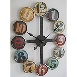 GSM Large Metal Contemporary Wall Clock