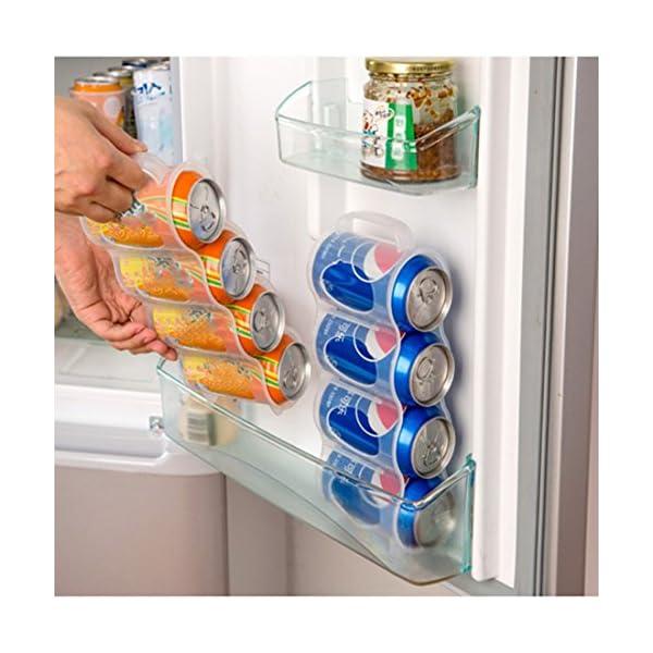 Caja de almacenamiento para frigorífico bebidas puede latas que ahorra