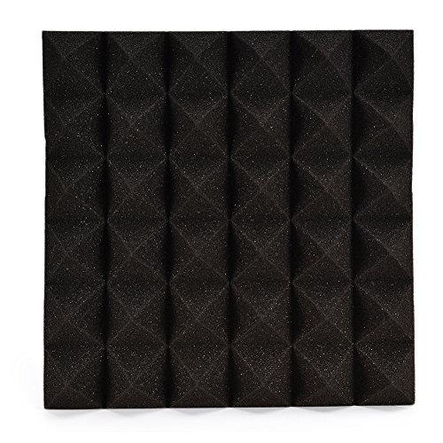 LianLe 30 * 30cm Panneau Acoustique en Mousse Pyramidale Isolation Phonique pour Studio,A