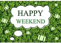 HD 10x7ft写真の背景幸せな週末聖パトリックの日パーティーの背景ラッキーグリーンクローバーパーティーの装飾子供大人の写真ブースシュートビニールスタジオの小道具