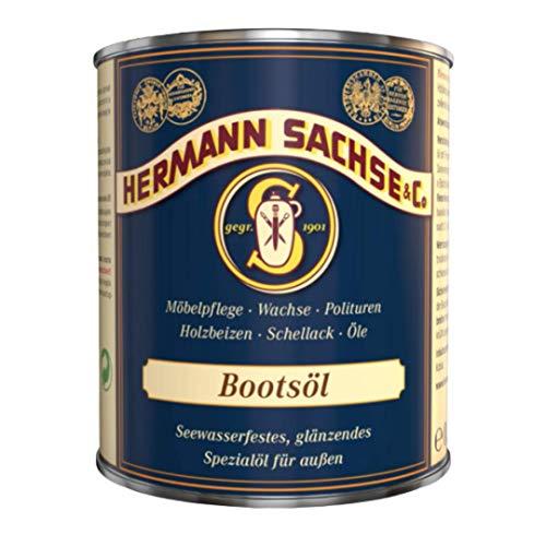 Hermann Sachse Yacht- und Bootsöl farblos | 750ml witterungsbeständiges glänzendes Holzöl | Holzschutz Pflegeöl für Außen